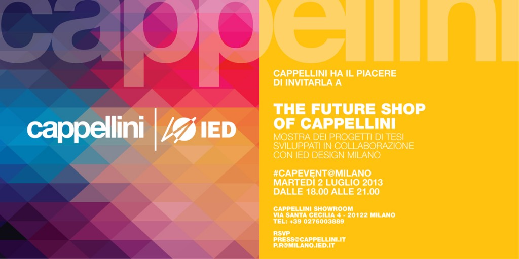 The future shop of cappellini ied istituto europeo di design for Studiare design a milano