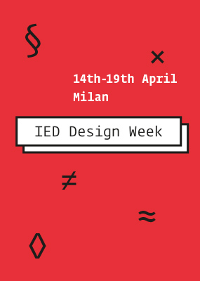 Ied design week 2015 ied istituto europeo di design for Studiare design a milano
