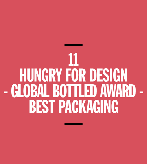 Hungry for design global bottled award best packaging for Studiare design a milano