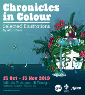 'Chronicles in Color', the illustrations of Allan Deas on display at IED Florence