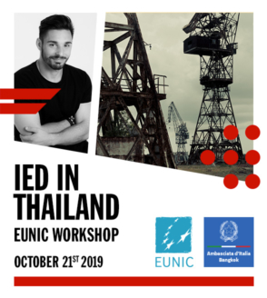IED in Thailand at EUNIC workshop with Alessio Pellicoro