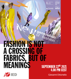 FASHION IS NOT A CROSSING OF FABRICS, BUT OF MEANINGS